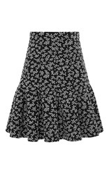 Carven Floral Fit And Flare Skirt