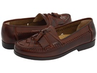 Deer Stags Herman Dark Maple Burnished Leather Men's Slip On Shoes Brown