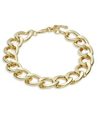 Rj Graziano Chunky Curb Link Necklace Gold