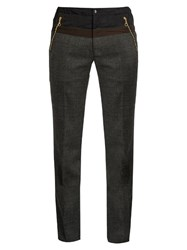 Kolor Slim Leg Wool Trousers Dark Grey