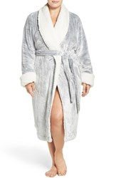 Nordstrom Plus Size Women's Lingerie Frosted Plush Robe Grey