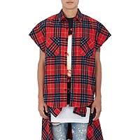 Purpose Tour Xo Barneys New York Men's Brushed Flannel Sleeveless Shirt Red