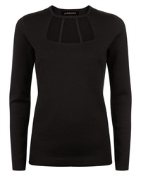 Jaeger Cut Out Detail Sweater Black