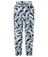 People Tree Frances Printed Trousers Navy