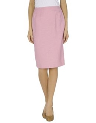Antonio Fusco Knee Length Skirts Pink