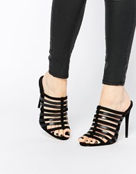 Asos Havana Wide Fit Caged Mules Black