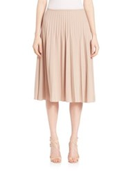 Piazza Sempione Pleated Wool Blend Skirt Powder Pink