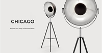 Chicago Floor Lamp In Black And Silver Made.Com