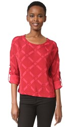 Versus Long Sleeve Blouse Biking Red