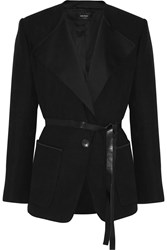 Isabel Marant Nicky Cotton And Linen Blend Jacket Black
