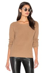 Bishop Young Fuzzy Pullover Sweater Tan