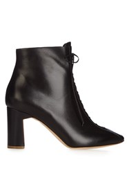 Rupert Sanderson Zadara Lace Up Leather Ankle Boot Black