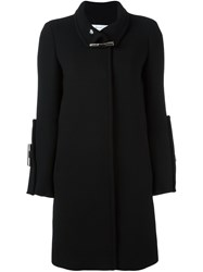 Gianluca Capannolo Fastening Detail Single Breasted Coat Black