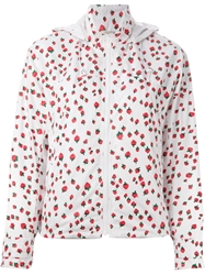 Muveil Strawberry Print Windbreaker White