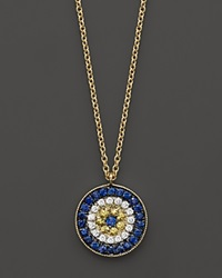 Meira T 14 Kt. Yellow Gold Diamond Evil Eye Necklace No Color