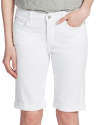 Nydj Roll Cuff Bermuda Shorts Optic White