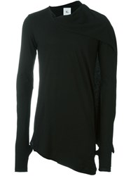 Lost And Found Rooms Melange Open Cardigan Black
