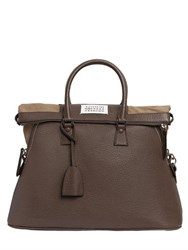 Maison Martin Margiela Large 5Ac Tumbled Leather Top Handle Bag