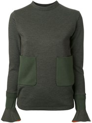 Toga Patch Pocket Jersey Pullover Green
