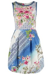 Derhy Emigrante Summer Dress Bleu Blue