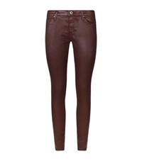 Ag Jeans The Leatherette Legging Ankle Female Red