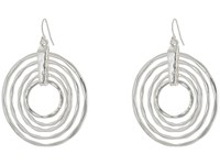 Robert Lee Morris Hammered Orbital Drop Earrings Silver Earring