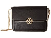Tory Burch Duet Chain Convertible Shoulder Bag Black New Ivory Shoulder Handbags
