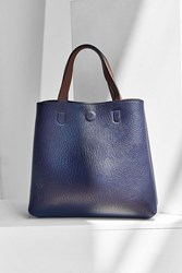 Urban Outfitters Mini Reversible Vegan Leather Tote Bag Blue