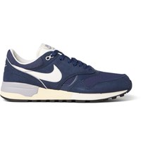 Nike Air Odyssey Leather Mesh And Nubuck Sneakers Navy