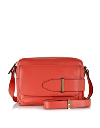 Tila March Lee Corail Leather Camera Bag Coral