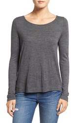Madewell Women's 'Anthem' Boatneck Tee Heather Charcoal