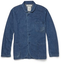 Washed Denim Jacket Blue