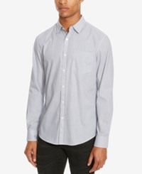 Kenneth Cole Reaction Men's Slim Fit Stripe Shirt Dusty Lilac Combo