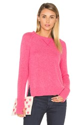 27 Miles Malibu Nora High Low Side Slit Sweater Pink