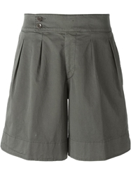Etro A Line Pleated Shorts Brown
