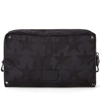 Valentino Camo Stars Nylon Wash Bag Black