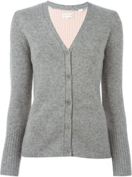 Chinti And Parker Colour Block Cardigan Grey