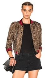 R 13 R13 Shrunken Roadie In Neutrals Animal Print Neutrals Animal Print