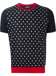 Dsquared2 Polka Dot Sweater Blue