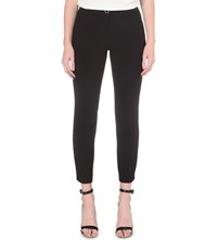 Ted Baker Ankle Grazing Tapered Stretch Crepe Trousers Black