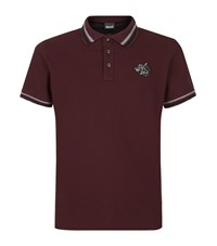 Just Cavalli Logo Polo Shirt Male Wine