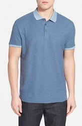 Men's Robert Barakett 'Benedict' Contrast Collar Cotton Polo Navy