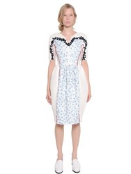 Mother Of Pearl Embellished Woven Cotton Dress