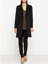 Jigsaw City Wool Coat Black