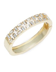 Rj Graziano Crystal Bangle Bracelet Gold