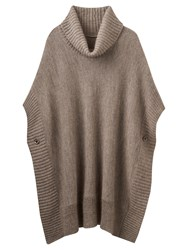 Joules Oriell Roll Neck Poncho Taupe