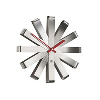 Umbra Ribbon Wall Clock Steel