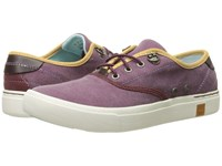 Timberland Amherst Oxford Grape Wine Canvas Women's Shoes Purple