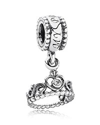 Pandora Design Pandora Dangle Charm Sterling Silver And Cubic Zirconia My Princess Moments Collection
