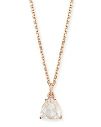 Anita Ko Rose Cut Diamond Pendant Necklace In 18K Rose Gold 0.81Ct
